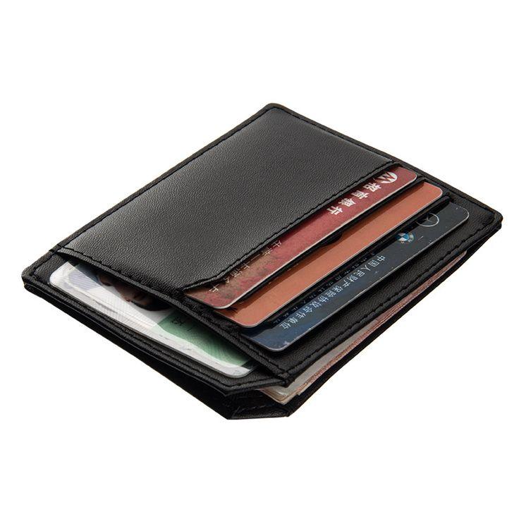 PU Leather Slim Men Card Holder Brand Design Card Keeper Coin Organizer Small Male Wallet Purse--BID104 PM30