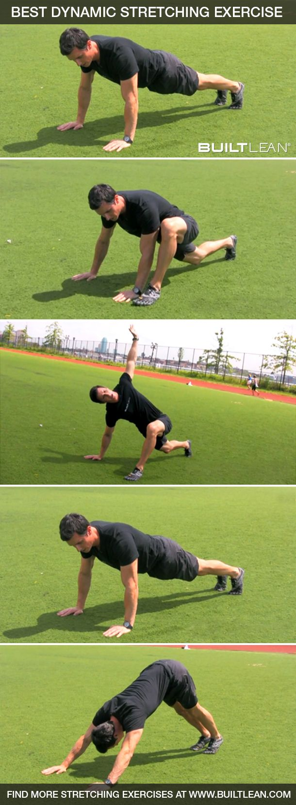 This dynamic stretching exercise will get you ready for your next workout. Watch the full video here: http://www.builtlean.com/2013/08/01/best-dynamic-stretching-exercise/