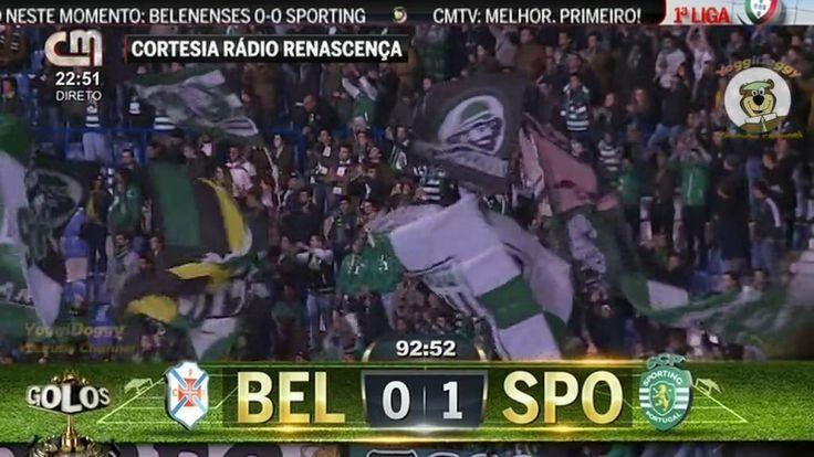 Belenenses 0 x 1 Sporting Golo de Bas Dost 93 (Comentado CMTV) 15ª Jorn ...