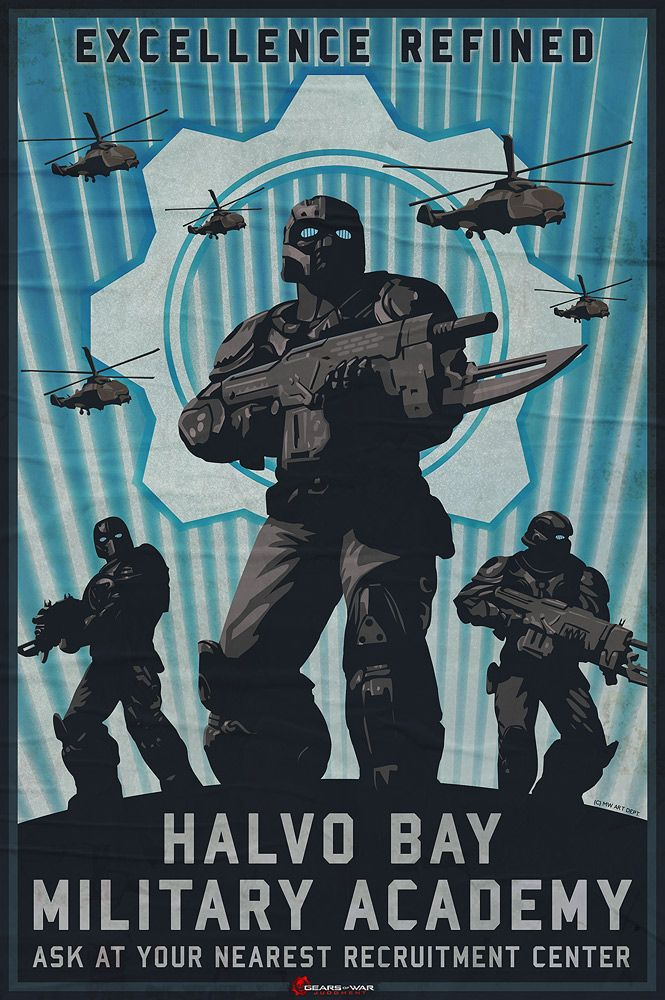 Poster in Gears of War: Judgment  |  Maciej Wojtala  |  www.wojtala.com