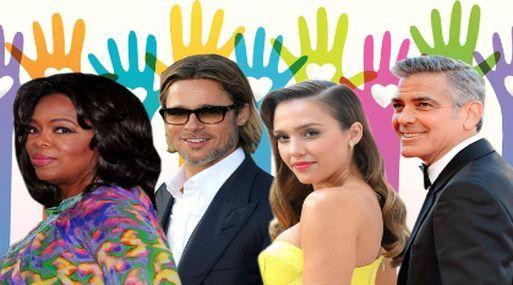 Estas son las 25 celebridades más caritativas del 2013