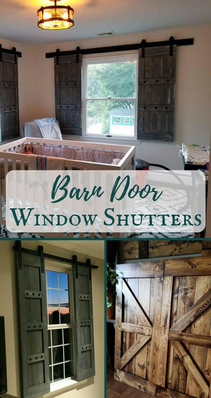 I need these barn door window shutters for my kitchen! Love it! #farmhouse #ad #farmhousekitchen #rustic