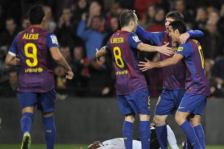 La goleada del Barça ante el Valencia en imágenes (19/02/12)