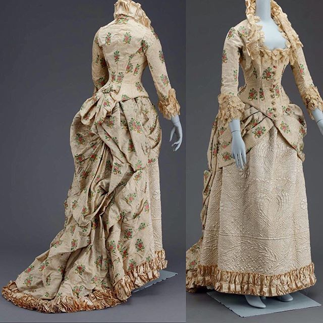Evening dress, American, ca. 1880. Museum of Fine Arts Boston
