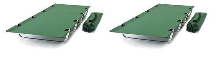 TWO PACK - World Outdoor Products Big Bear EASY ROLL UP Anodized Aluminum Frame Camping Cot with TWO EMERGENCY POWER WHISTLES -- Check out this great product.