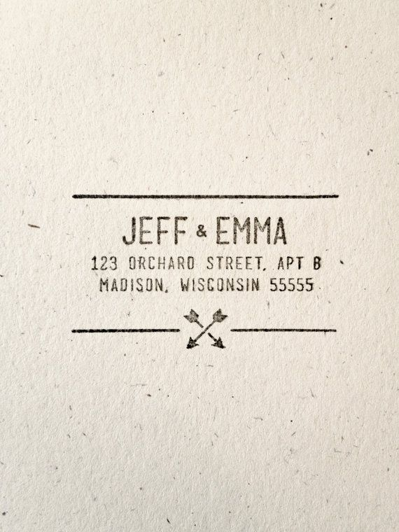 Arrow Wedding - Stamp - Name. Return Address. Hipster. Modern. Simple. Southwestern. Tribal Pattern.