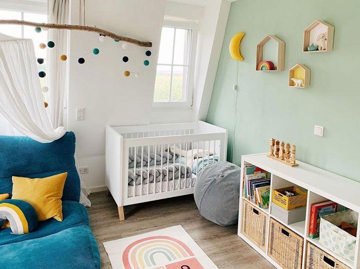 Mint Green In Nursery And Kids Rooms Kids Interiors Green Kids Rooms Green Baby Room Nursery Baby Room