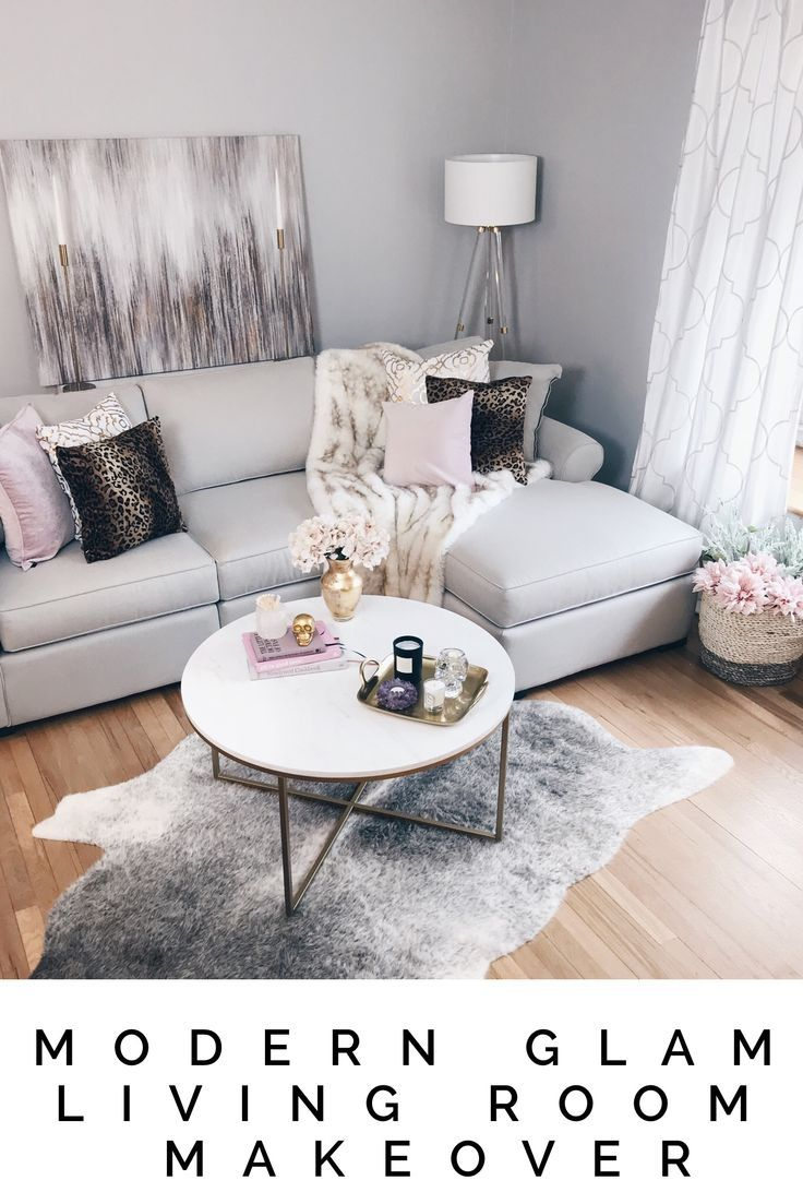 Bringing a Modern Glam Living Room Vision to Life  Wohnzimmer