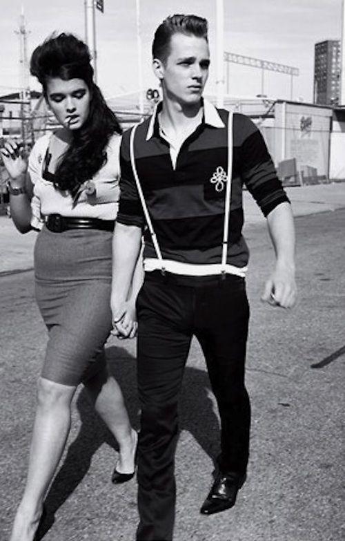 #Hot retro couple. Old school style. #classiccouple #rockabilly  www.juntoslubricants.com