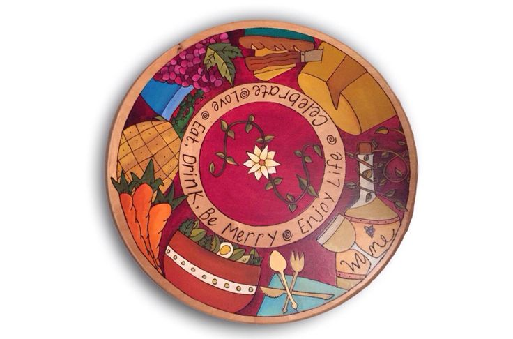 """LAZY SUSAN 16"""" Lazy Susan Turntable / Handpainted Lazy Susan / Inspirational / Whimsical / Kitchen Decor by TheDrunkenFirefly on Etsy https://www.etsy.com/listing/490302688/lazy-susan-16-lazy-susan-turntable"""