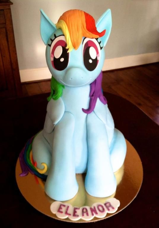 My Little Pony 3d Cake @sparkle2289 this should be feasible right?