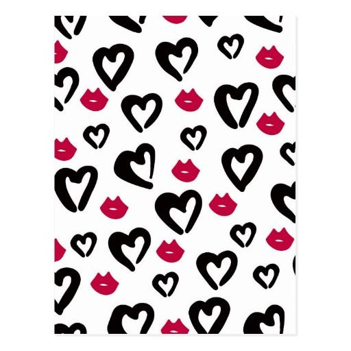 Love And Kisses Postkarte