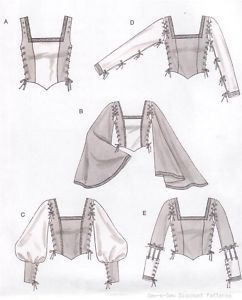 Laced Renaissance Medieval  Costume Bodice PATTERN                                                                                                                                                                                 More