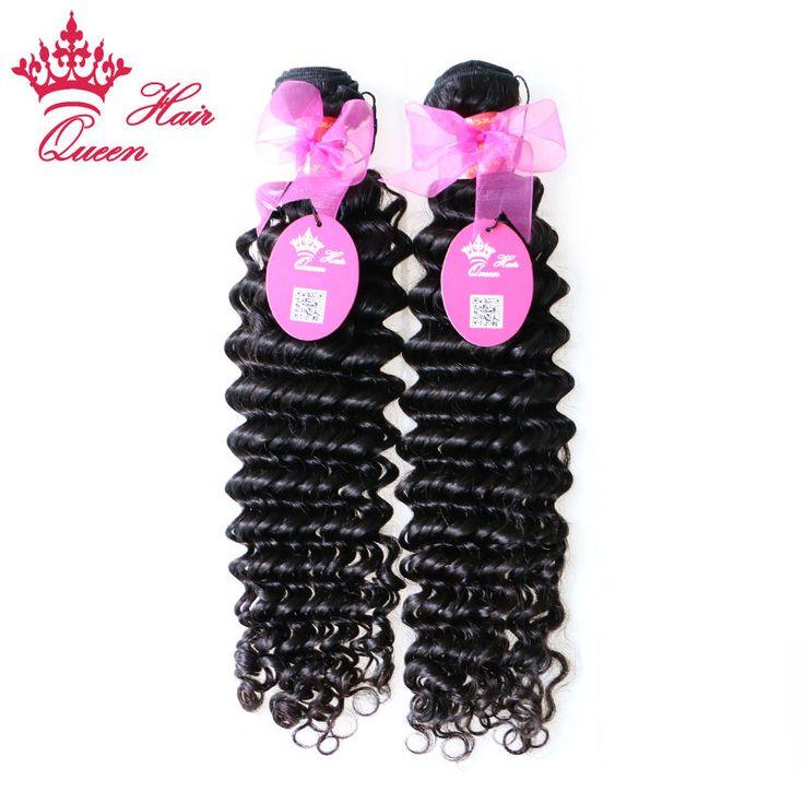 "Queen Hair Products 12""-28"" Virgin Brazilian Deep Wave Curly Human hair Extensions, 2pcs/lot Brazilian Virgin Hair DHL Free"