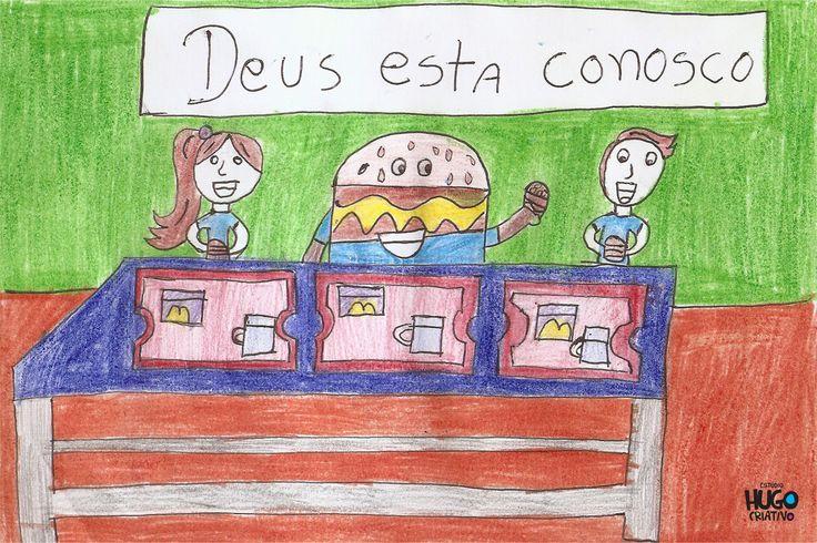 """O desenho alimenta a imaginação e o  """"McDia Feliz"""" alimenta o sonhos dos inscritos do Instituto Politriz."""