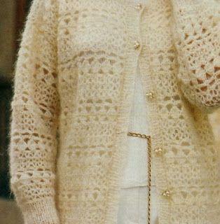 Professione Donna: Lavori con l'uncinetto: Cardigan bianco in mohair