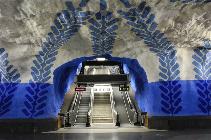 Stockholm metro - T-Centralen station - Stockholm - Sweden