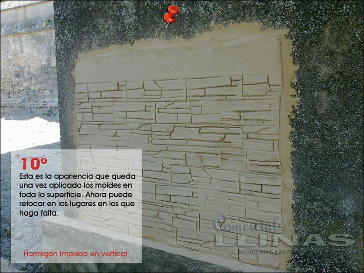 Aplicaci n de moldes en vertical moldes para hormig n for Hormigon impreso moldes