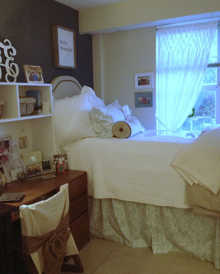 #dormbedding #dormsuitedorm #chic  Dorm  Pinterest  ~ 021824_Auburn Dorm Room Ideas