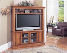 Cheap Parker House Deer Creek LCD Plasma TV Corner Entertainment Center