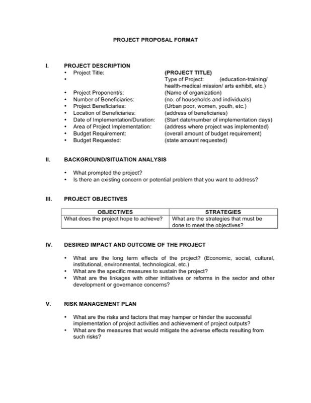 Project Proposal Format Business resources - project proposal template sample