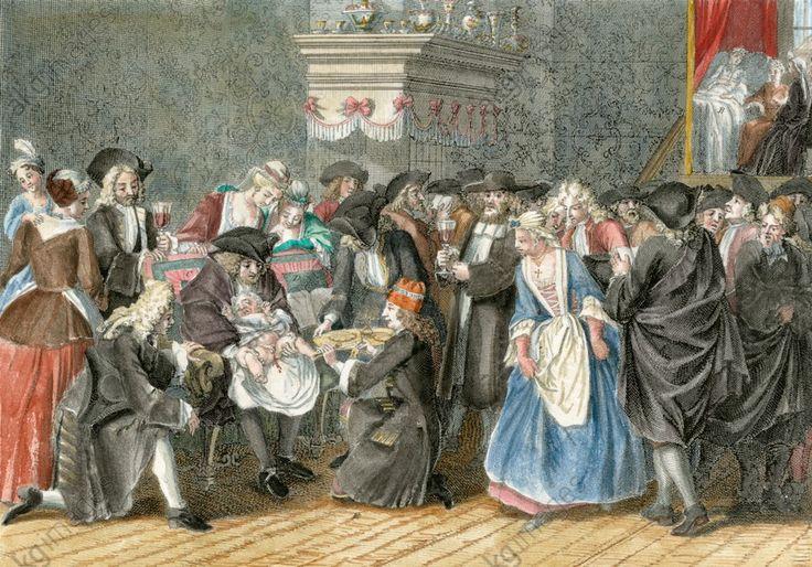 La circoncision des juifs portugais, 1723 by Bernard Picart (1673-1733)