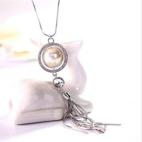 Fashion Women Lady Jewelry Pendant Statement Long Chain Tassel Sweater Necklace