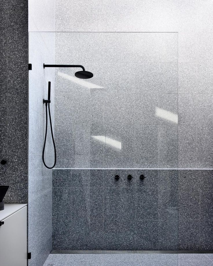 Light filled ensuite from the Carlton House. Terrazzo... . Phot