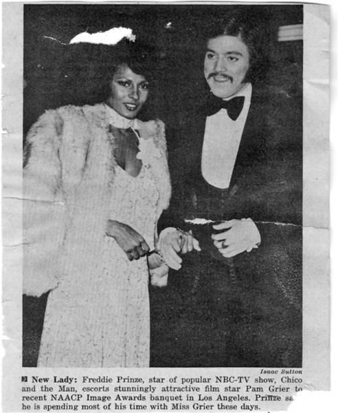 Pam Grier and Freddie Prinze Sr.: Los Angeles Photos, Freddie Prinz Sr, Naacp Awards, Magazines Photos, Grier Attendance, Los Angel Photos, Jets Magazines, Funny Freddie, Pam Grier