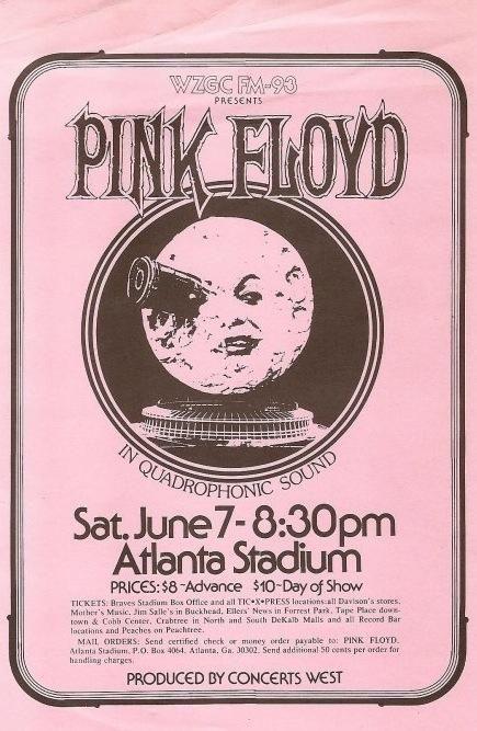 "more-relics: "" 1975 Pink Floyd flyer """