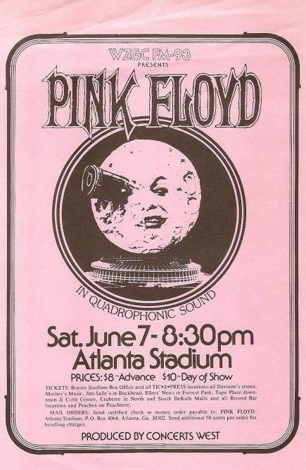 "more-relics: "" 1975 Pink Floyd flyer """