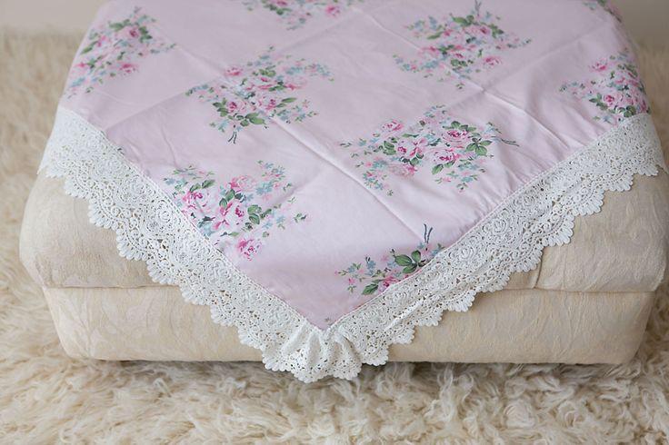 Pink Artisan Floral Wrap