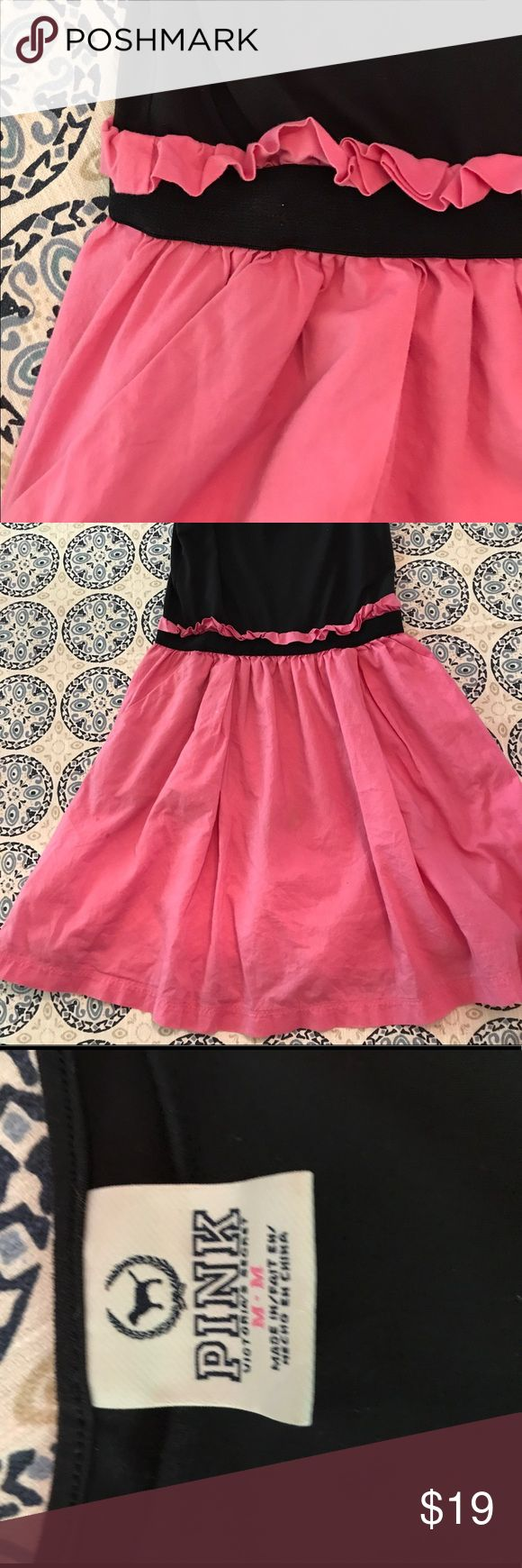 Victoria's Secret PINK, sundress Perfect summer sundress! This adorable sundress will look great and feels great! This dress also has pockets as well! PINK Victoria's Secret Dresses