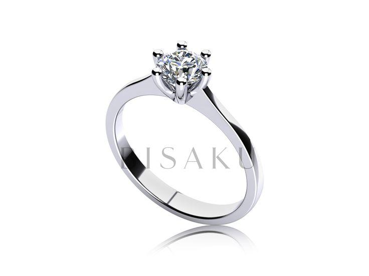 C4 Jako zmenšená královská koruna, se může na první pohled jevit tento zásnubní prsten. Zdání neklame - kamínek je zasazen v bohaté korunce, která je tvořena šesti malými krapnami. Bohatost tohoto detailu souzní se střídmým pojetím celého prstenu, jehož tvar je po celém obvodě pravidelný. #bisaku #wedding #rings #engagement #svatba #zasnubni #prsteny
