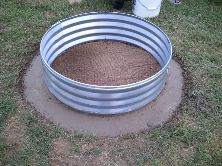 Variety Of Galvanized Fire Pit Rings   Fire Pits Ideas