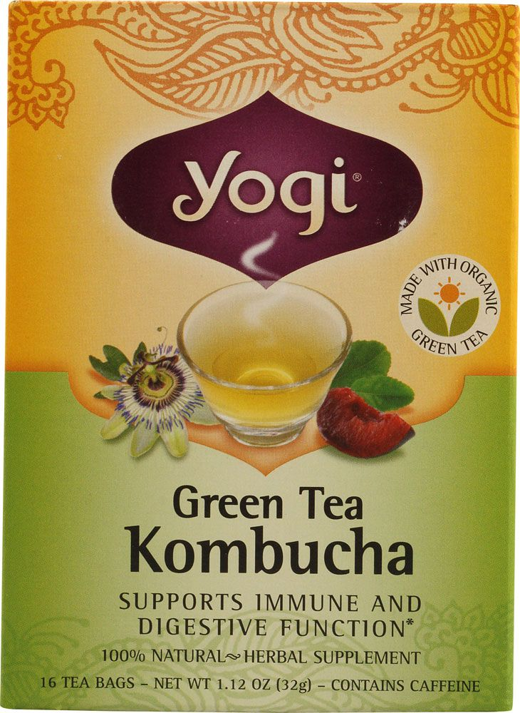 One of my favorites: Yogi Green Tea Kombucha  https://www.vitacostrewards.com/home/publicHome.pg