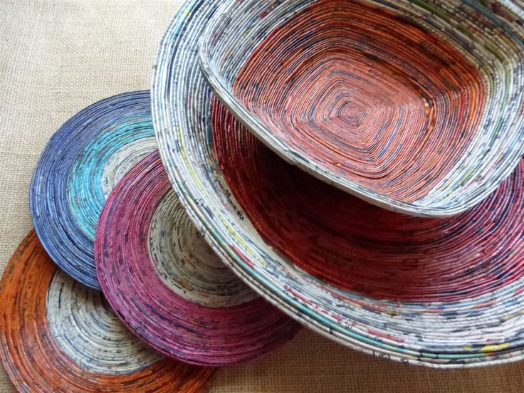Newspaper Bowls and mats and many other newspaper crafts!