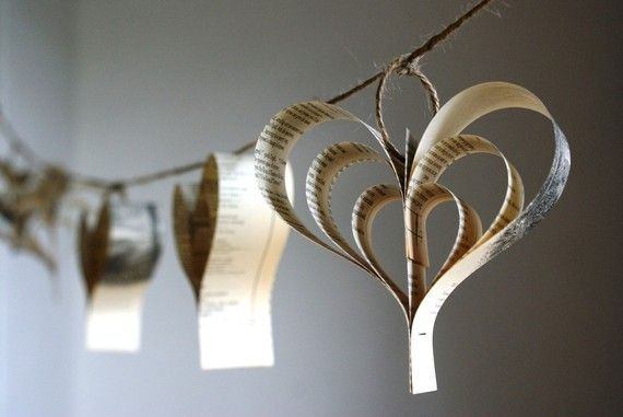 garlands made from vintage books, perfect for decor