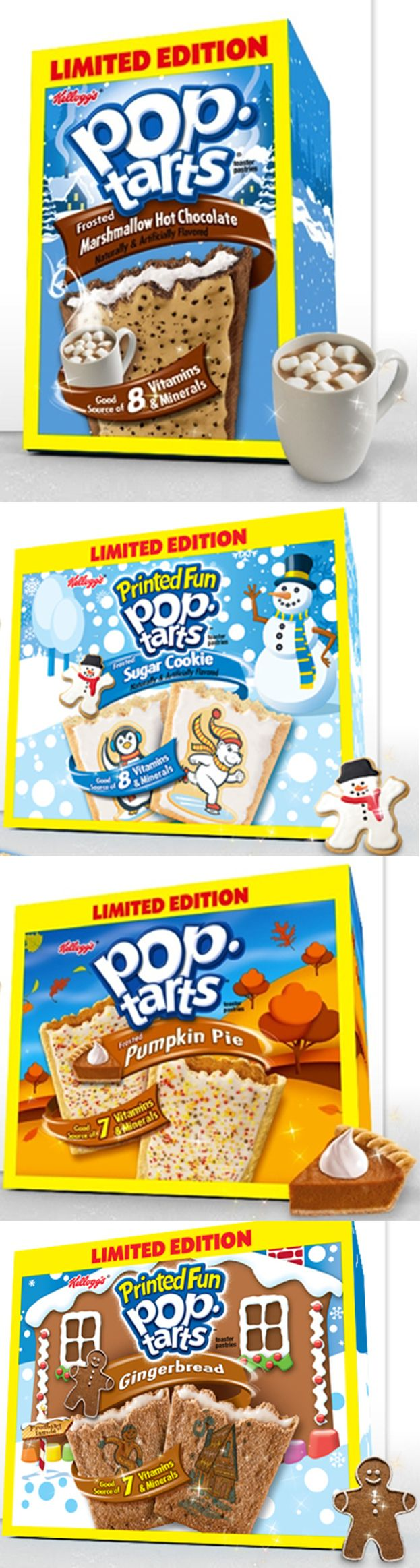 Pop Tarts: Marshmallow Hot Chocolate, Sugar Cookie, Pumpkin Pie, Gingerbread | 11 Questionable Holiday Flavors
