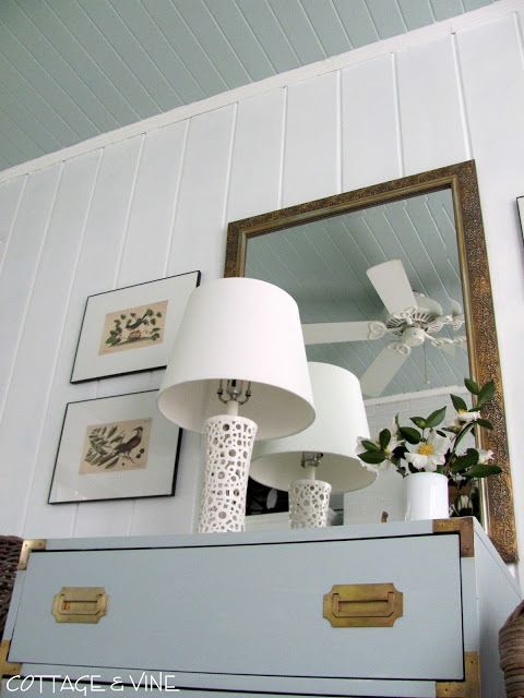 Ceiling Is Glidden Icy Teal Walls Are Glidden White