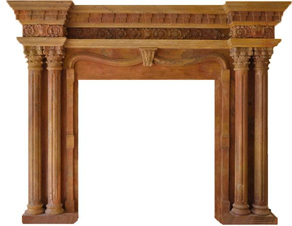 Old Fireplace Mantels for Sale | Antique Marble Fireplace Antique Limestone Mantels:
