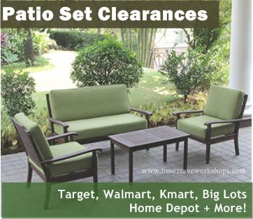 Patio Furniture Clearance Sales are happening all over town - get 50% - 70% OFF!!| Target, Walmart, Kmart, Home Depot, Big Lots