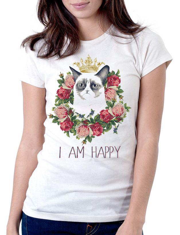 via en.dawanda.com Printed T-Shirts – Grumpy Nerd, Chemistry Cat, Tardar Sauce, Grumpy C – a unique product by Olga-Sliusar on DaWanda