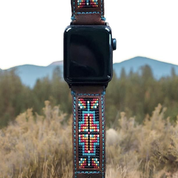 Western Apple Watch Band Beaded Apple Watch Bands Leather Apple