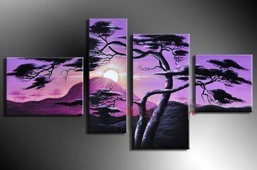 New 4 Pieces Large Modern Abstract Art Oil Painting Wall Decor Canvas No Frame | eBay