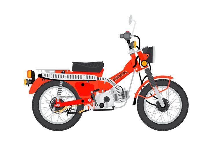 Honda CT110 (Postie bike) - David Singleton / @ds_gd