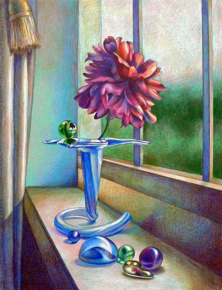 пресные картинка ваза с цветами художника цветными карандашами мужчин многом проявляется
