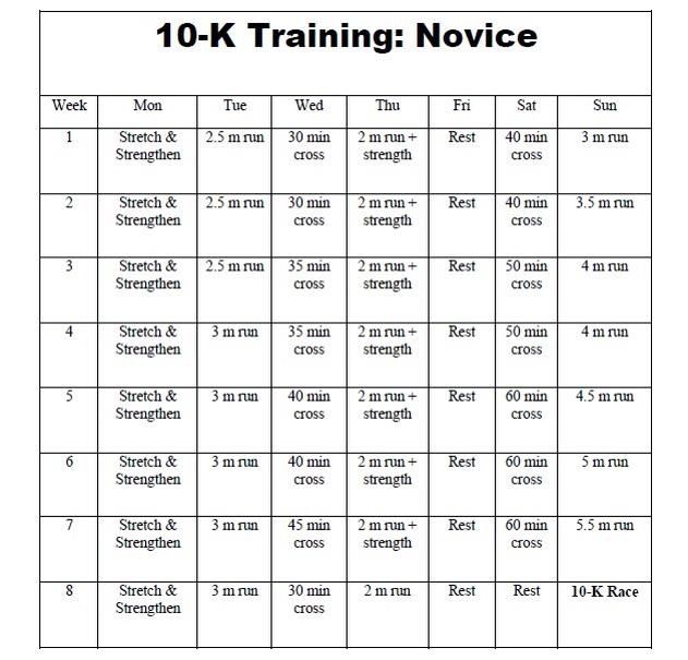 10k novice training