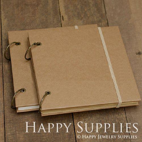 Cuaderno de papel de Kraft / álbum de fotos día Graffiti pintados a mano libro cuero DIY boda álbumes (KB04)