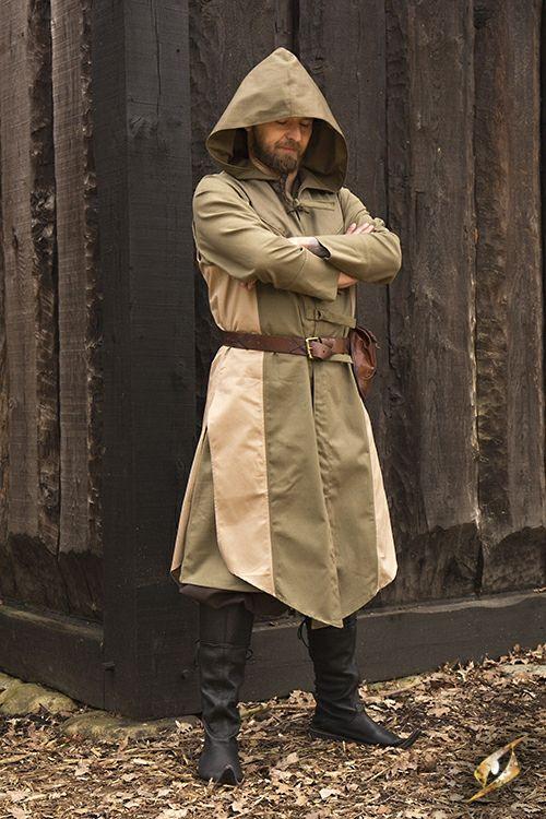 Die Weste Altair ist der Assassinen-Weste von Assassins Creed nachempfunden und bietet eine einzigartige Alternative zur Originalgewandung. Das weit geschnittene Design sorgt für viel Bewegungsfreiheit und besitzt ein sehr stilvolles Design. Die perfekte Weste für jeden Assassinen auf einem LARP.  Größe: S/M, L/XL, XXL/3XL Farbe: Grün/Beige Material: Baumwolle